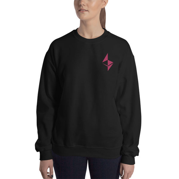 Ethereum surface design – Women's Embroidered Crewneck Sweatshirt