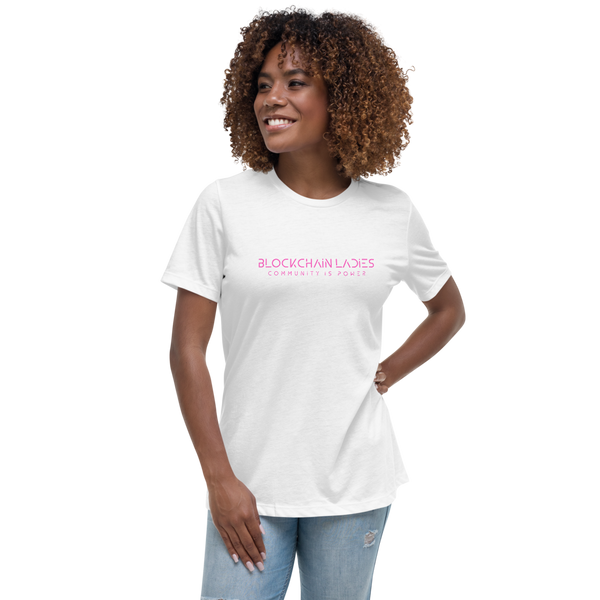 Blockchain Ladies Women's Relaxed T-Shirt