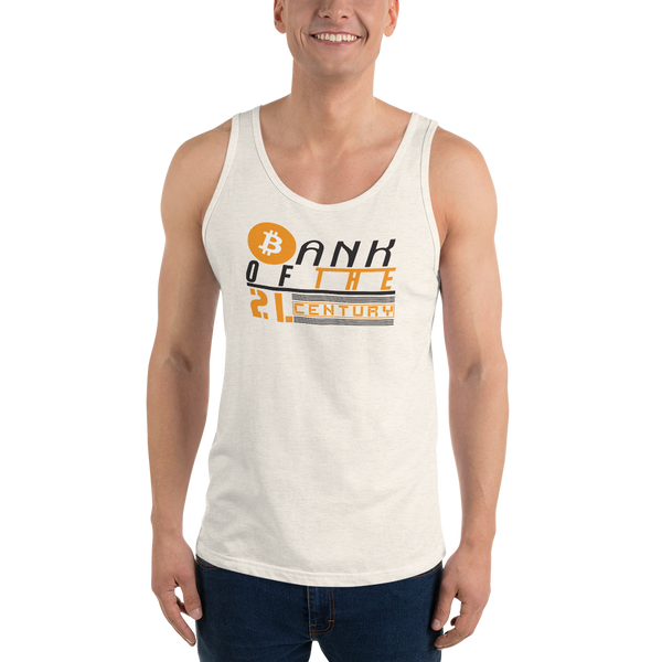 Bank of the 21. century (Bitcoin) - Men's Tank Top