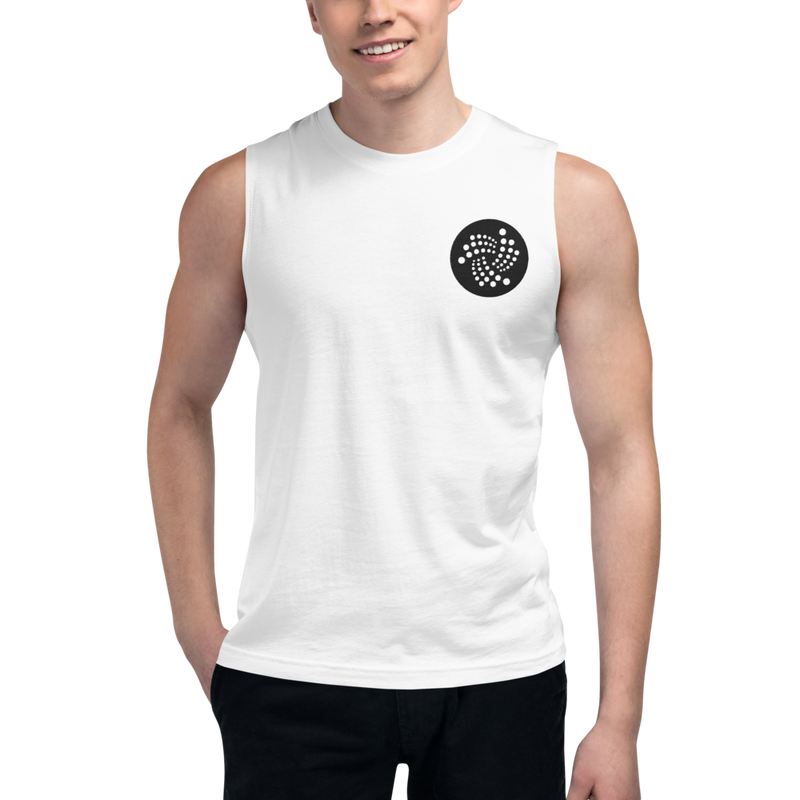 Iota logo – Men's Embroidered Muscle Shirt