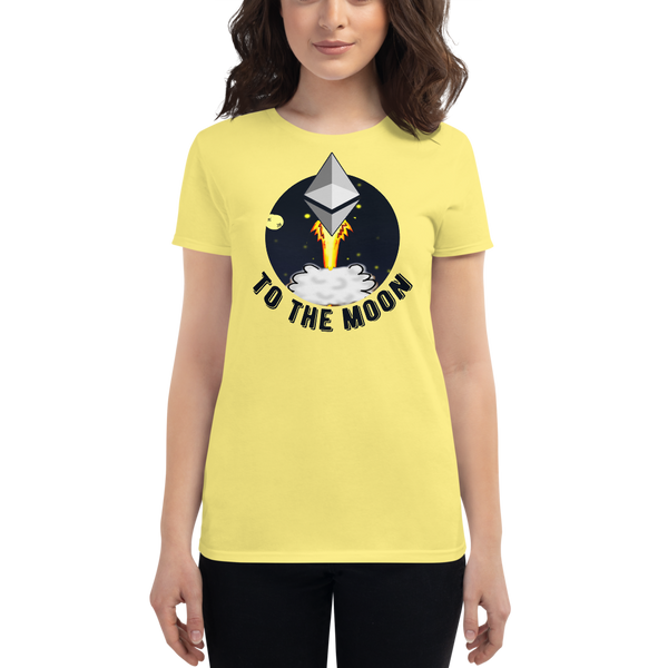 Ethereum to the moon - Women's Short Sleeve T-Shirt