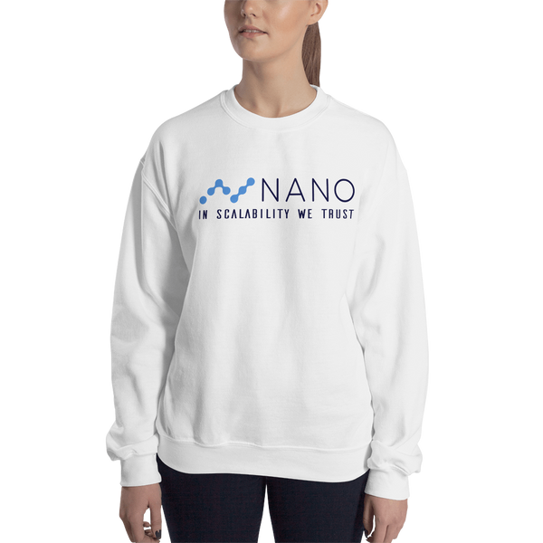 Nano, in scalability we trust – Women's Crewneck Sweatshirt