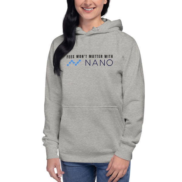 Fees won't matter with Nano – Women's Pullover Hoodie