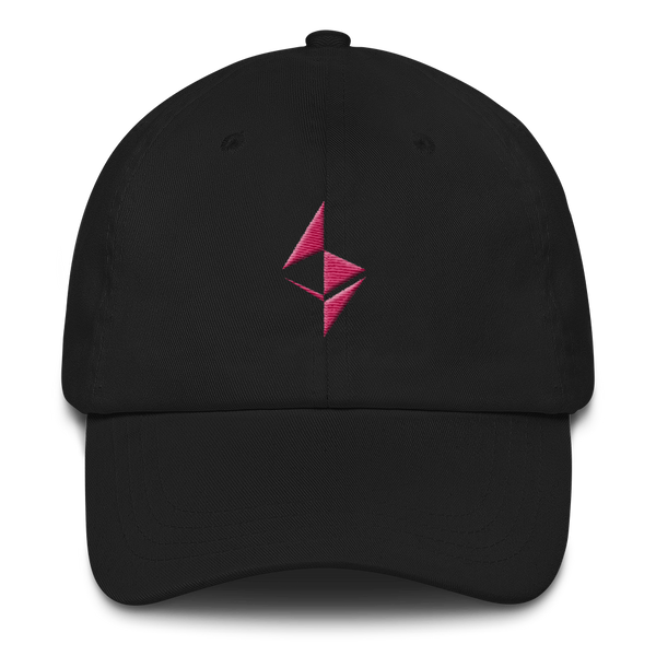 Ethereum surface design (Pink) - Baseball Cap