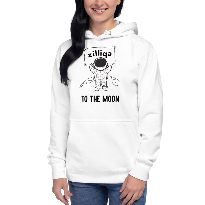 Zilliqa to the moon – Women's Pullover Hoodie