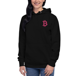 Bitcoin – Women's Embroidered Pullover Hoodie