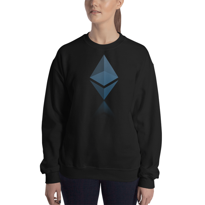 Ethereum reflection design – Women's Crewneck Sweatshirt