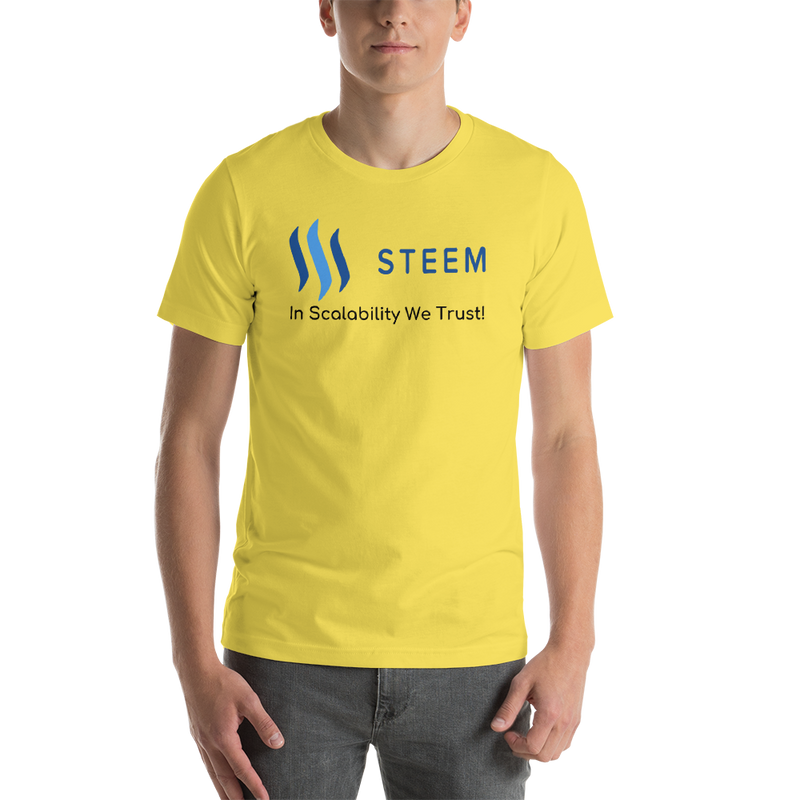 In scalability we trust (Steem) – Men's Premium T-Shirt
