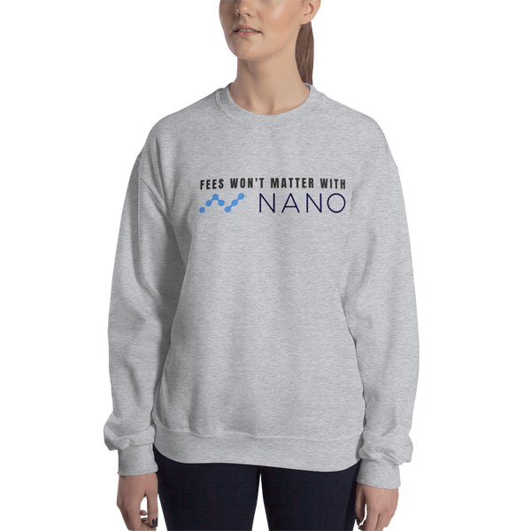 Fees won't matter with Nano – Women's Crewneck Sweatshirt