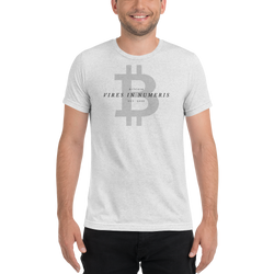 Vires in numeris (Bitcoin) - Men's Tri-Blend T-Shirt
