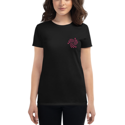 Iota floating - Women's Embroidered Short Sleeve T-Shirt