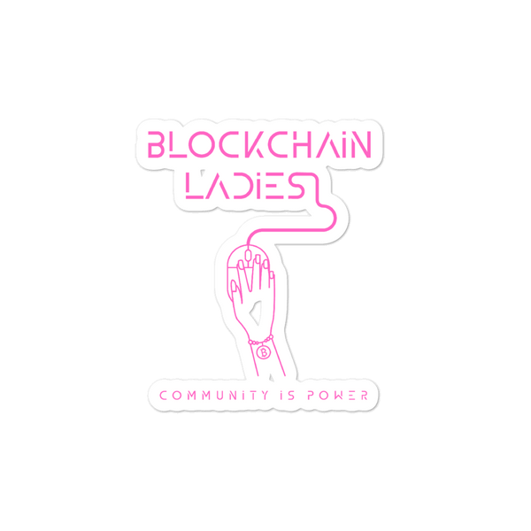 Blockchain Ladies stickers