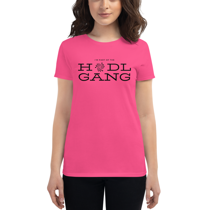 Hodl gang (Iota) - Women's Short Sleeve T-Shirt