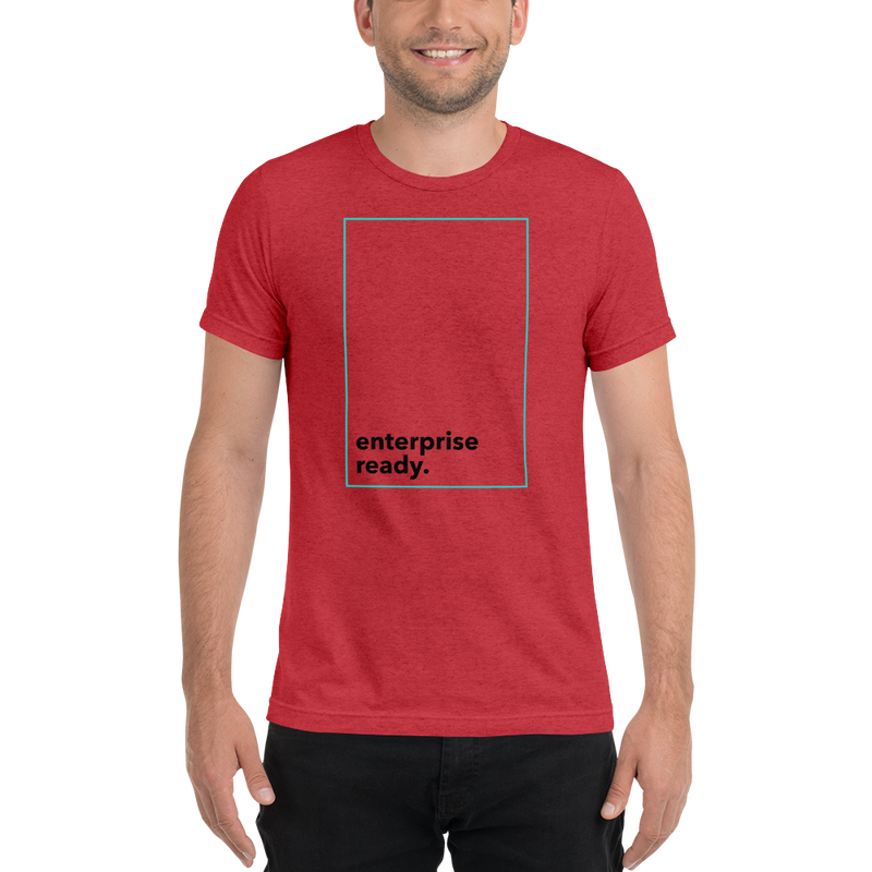 Enterprise ready (Zilliqa) - Men's Tri-Blend T-Shirt