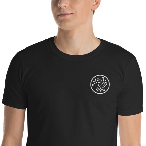Iota logo - Men's Embroidered T-Shirt
