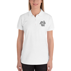 Iota floating - Women's Embroidered Polo Shirt