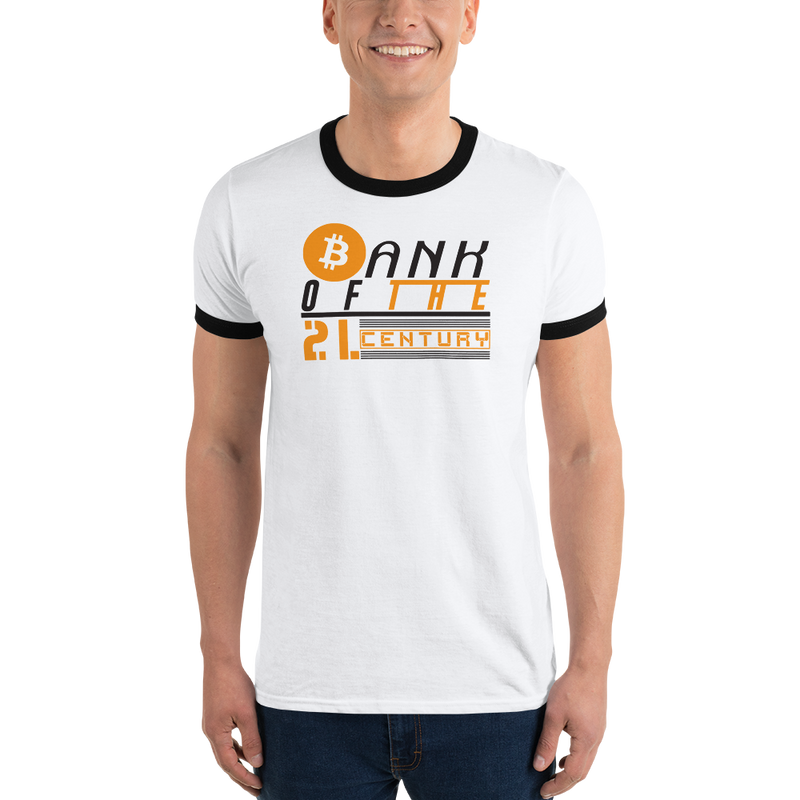 Bank of the 21. century (Bitcoin) - Men's Ringer T-Shirt