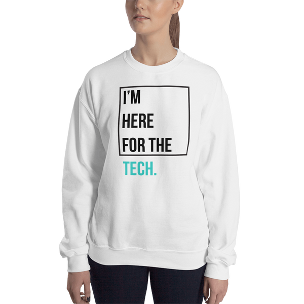 I'm here for the tech (Zilliqa) – Women's Crewneck Sweatshirt