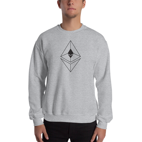 Ethereum line design - Men's Crewneck Sweatshirt