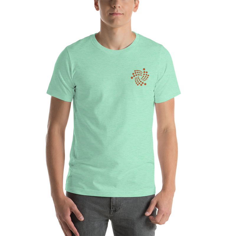 Iota floating design - Men's Embroidered PremiumT-Shirt