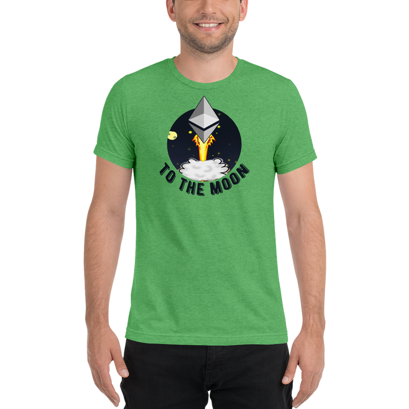 Ethereum to the moon - Men's Tri-Blend T-Shirt