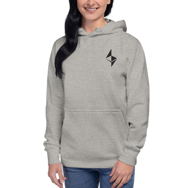 Ethereum surface design – Women's Embroidered Pullover Hoodie