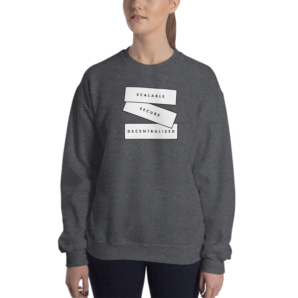 Scalable, secure, decentralized (Zilliqa) – Women's Crewneck Sweatshirt