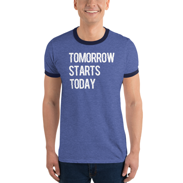 Tomorrow starts today (Zilliqa) - Men's Ringer T-Shirt