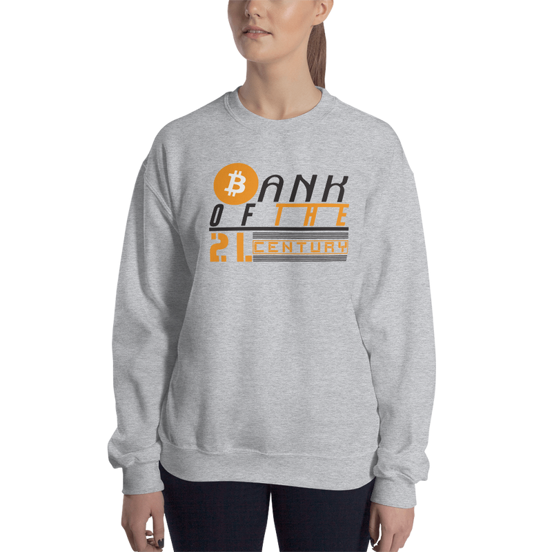 Bank of the 21. century (Bitcoin) – Women's Crewneck Sweatshirt