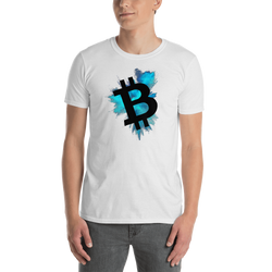 Bitcoin color cloud - Men's T-Shirt