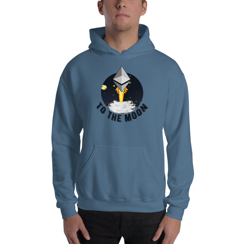Ethereum to the moon - Men's Hoodie