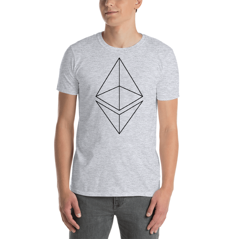 Ethereum line design - Men's T-Shirt