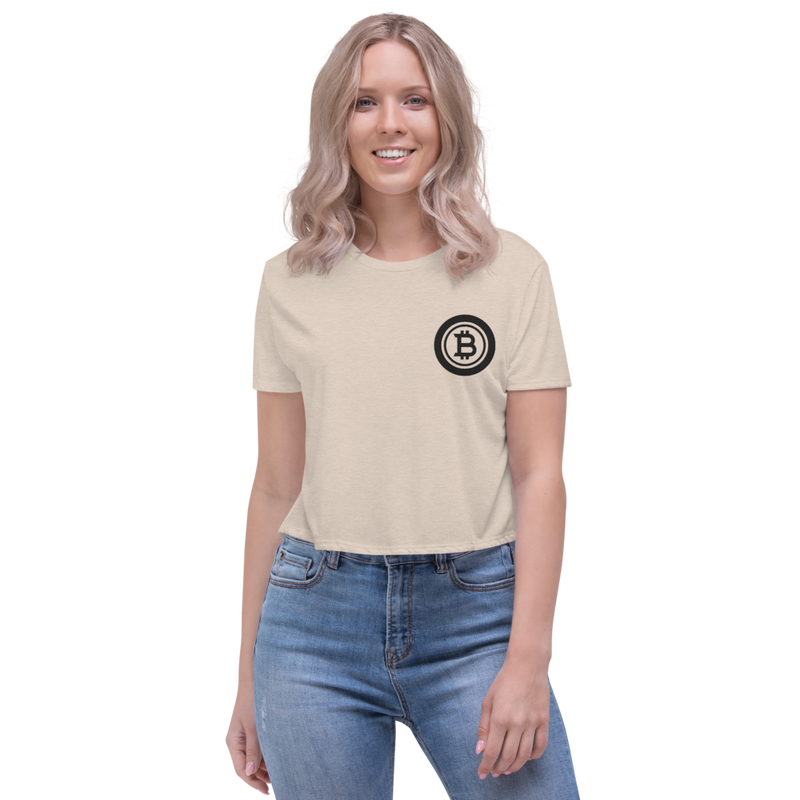 Bitcoin - Women's Embroidered Crop Tee
