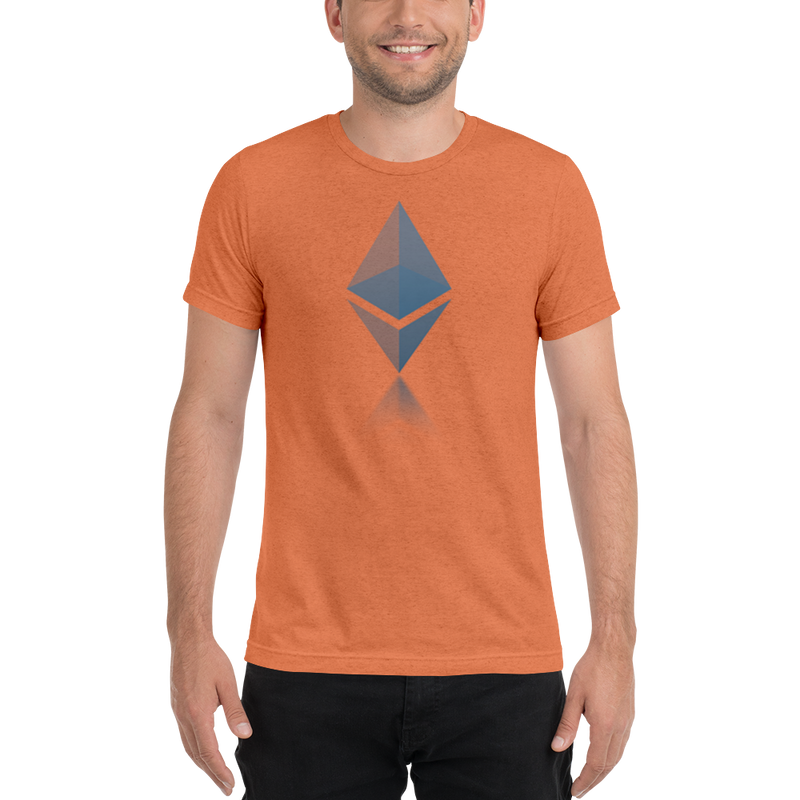 Ethereum reflection design - Men's Tri-Blend T-Shirt