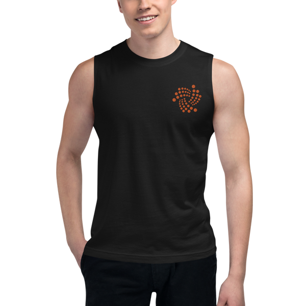 Iota floating – Men's Embroidered Muscle Shirt