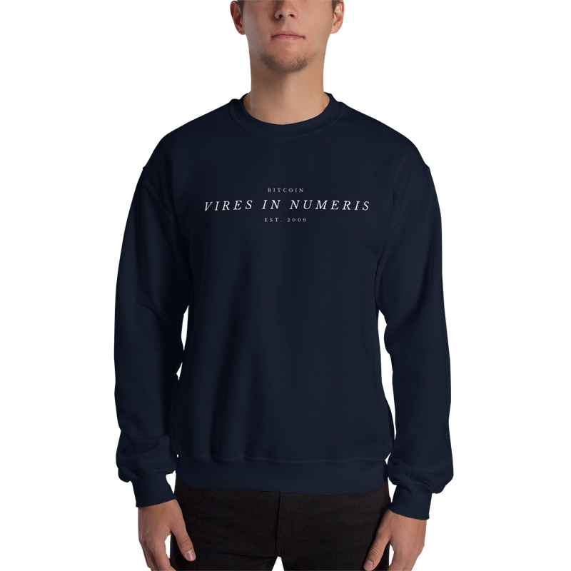 Vires in numeris (Bitcoin) - Men's Crewneck Sweatshirt