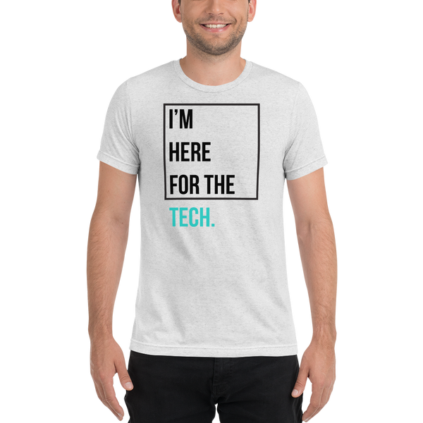 I'm here for the tech (Zilliqa) - Men's Tri-Blend T-Shirt