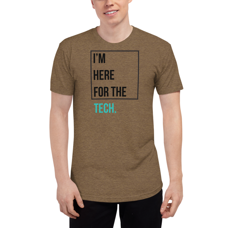 I'm here for the tech (Zilliqa) – Men's Track Shirt