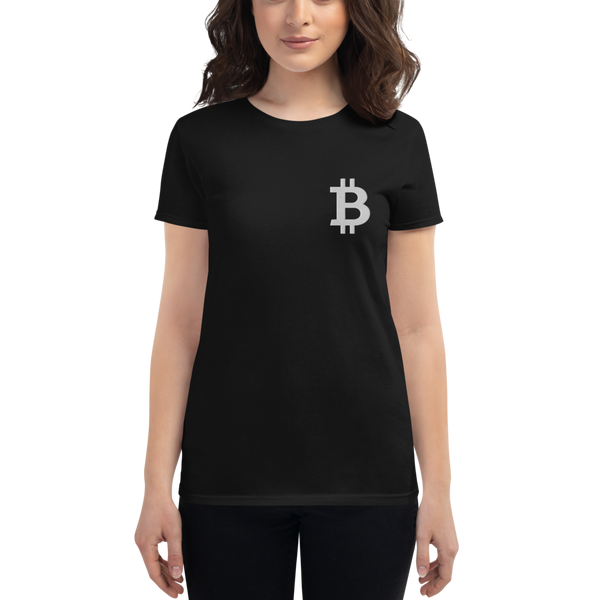 Bitcoin - Women's Embroidered Short Sleeve T-Shirt