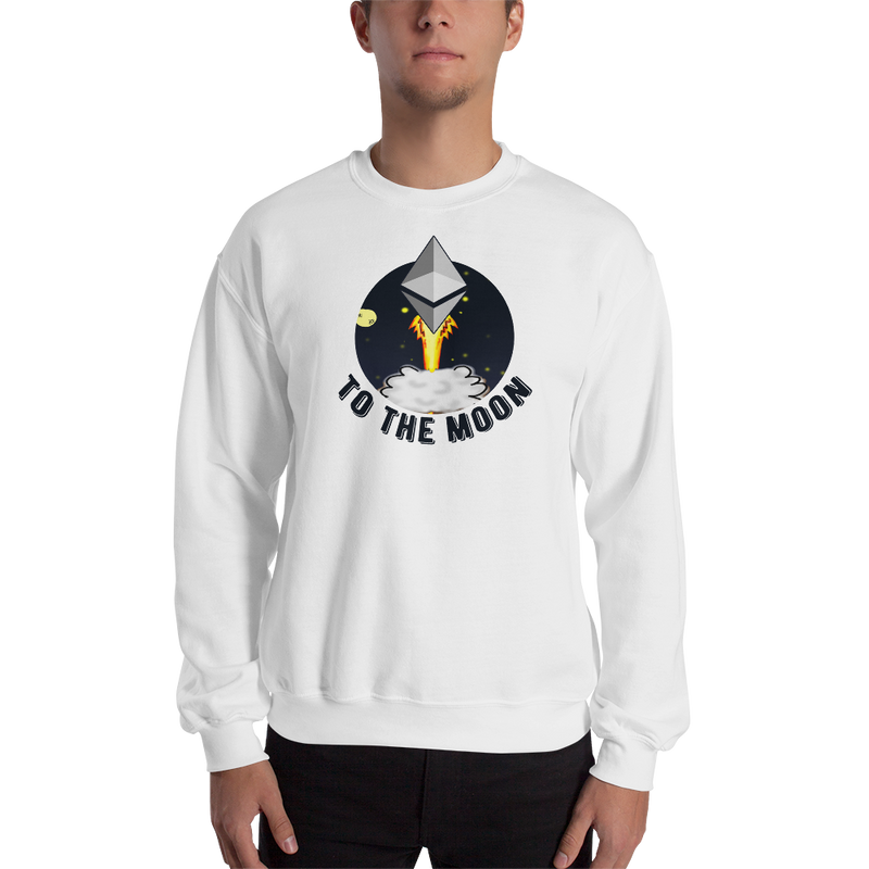 Ethereum to the moon - Men's Crewneck Sweatshirt