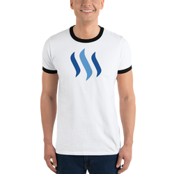 Steem – Men's Ringer T-Shirt