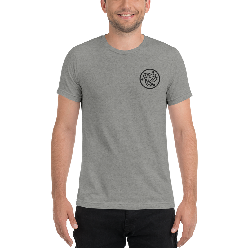 Iota logo - Men's Embroidered Tri-Blend T-Shirt