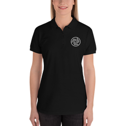Iota logo - Women's Embroidered Polo Shirt