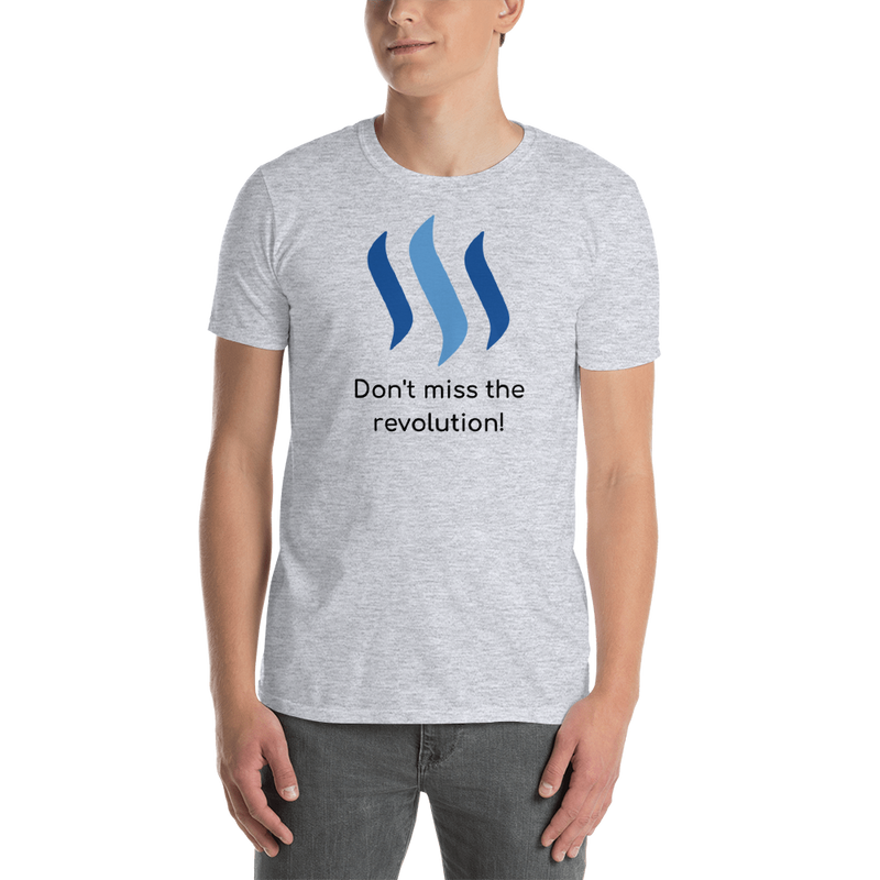 Steem don't miss the revolution - Men's T-Shirt