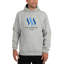 In scalability we trust (Steem) – Men's Premium Hoodie
