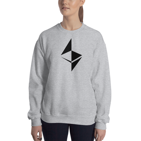Ethereum surface design – Women's Crewneck Sweatshirt