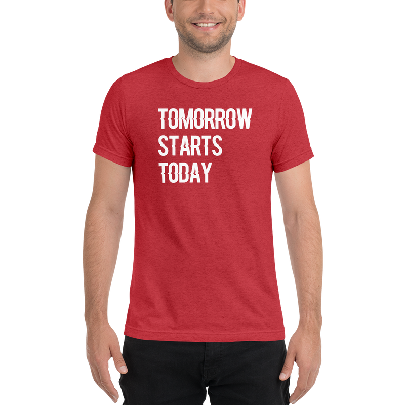 Tomorrow starts today (Zilliqa) - Men's Tri-Blend T-Shirt