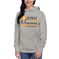 Bank of the 21. century (Bitcoin) – Women's Pullover Hoodie
