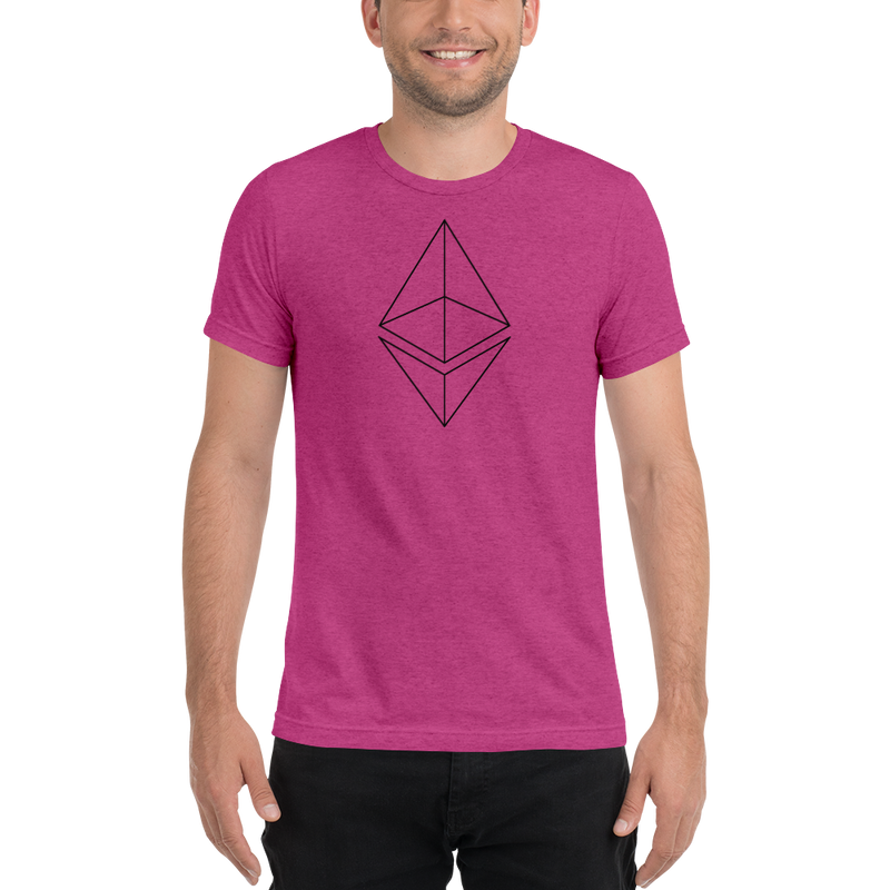 Ethereum line design - Men's Tri-Blend T-Shirt
