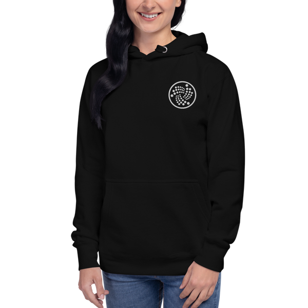 Iota logo – Women's Embroidered Pullover Hoodie